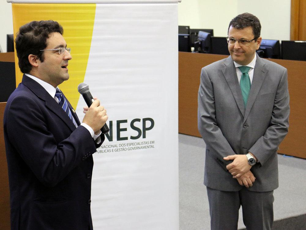 Presidentes da ANESP e do Cade, Alex Canuto e Márcio de Oliveira Jr