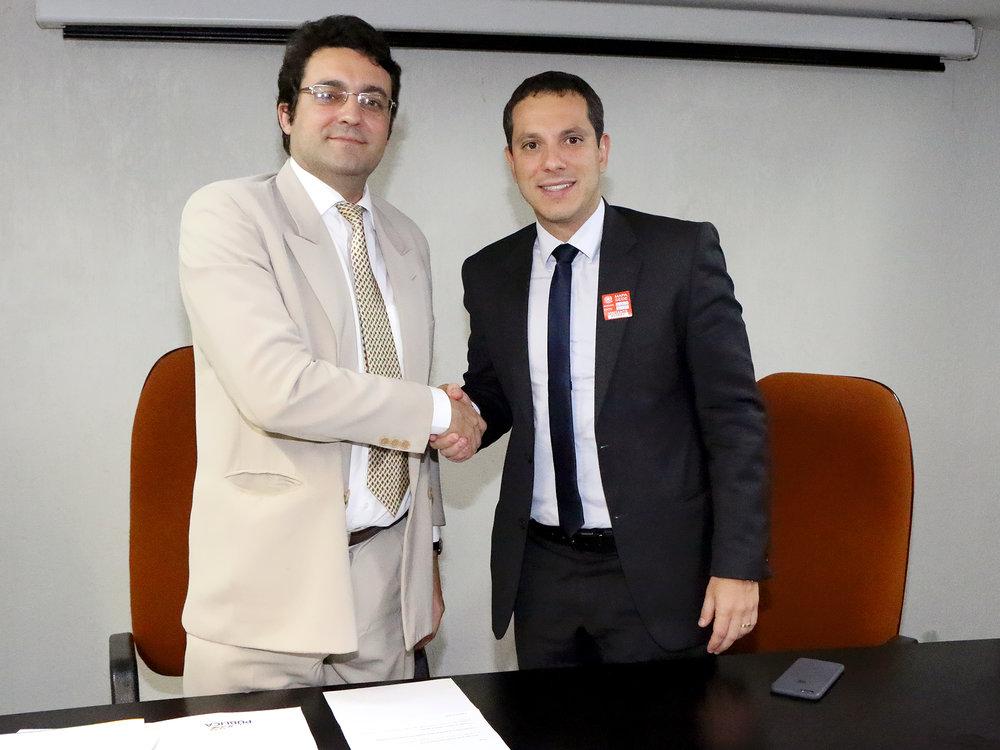 Presidente da ANESP, Alex Canuto, e Presidente da ANER e da Pública/DF, Thiago Botelho. Foto: Filipe Calmon / ANESP