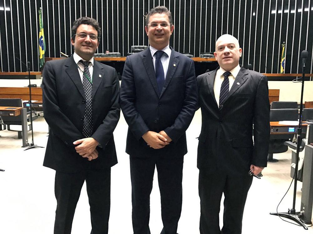 Alex Canuto, dep Sóstenes Cavalcante e Vinícius Barile. Foto: Arquivo pessoal