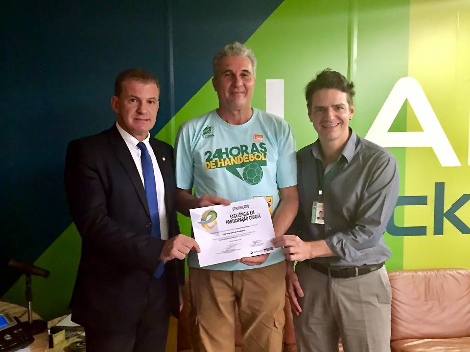 EPPGG José Ivan recebe premiação. Foto: LabHacker