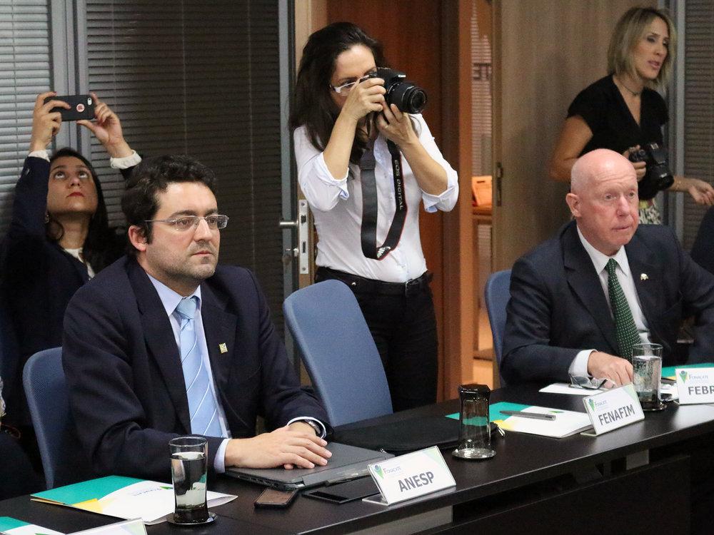 Presidente da ANESP, Alex Canuto, durante assembleia do Fórum. Foto: Filipe Calmon / ANESP