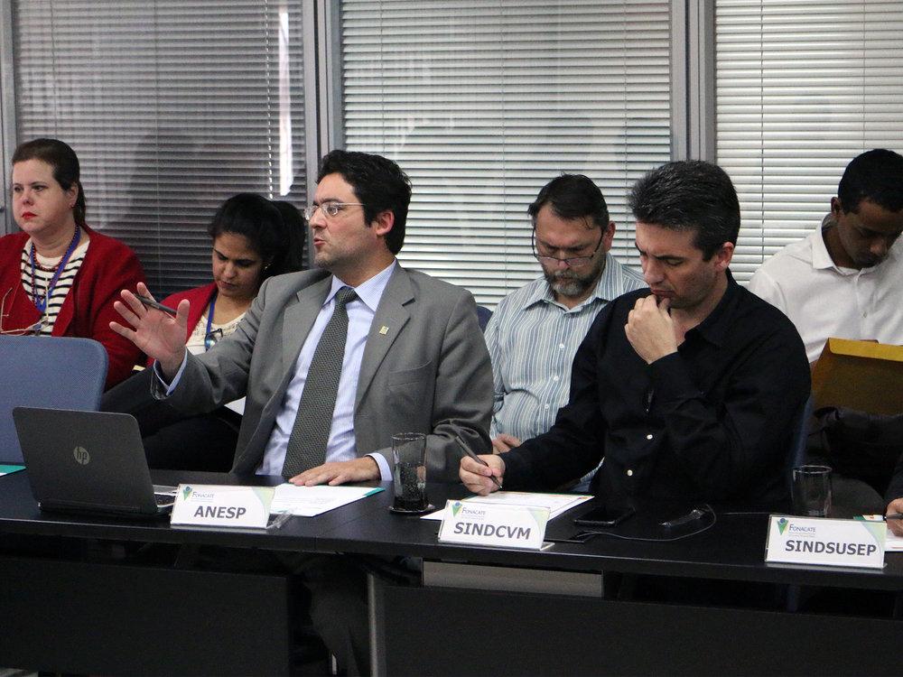 Alex Canuto, Presidente da ANESP, durante reunião do Fonacate. Foto: Filipe Calmon / ANESP