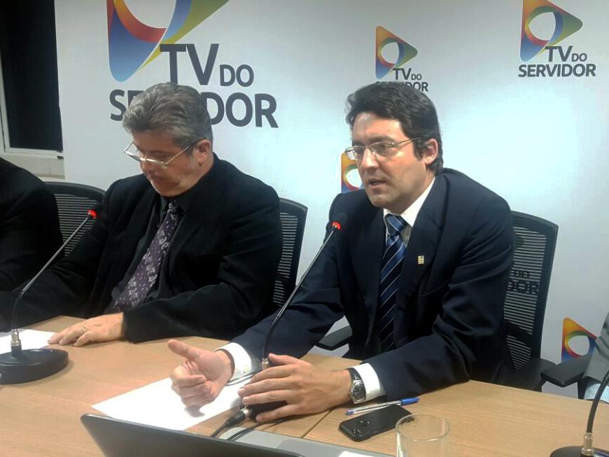 Presidente da Pública, Nilton Paixão, e da ANESP, Alex Canuto. Foto: Pública - Central do Servidor