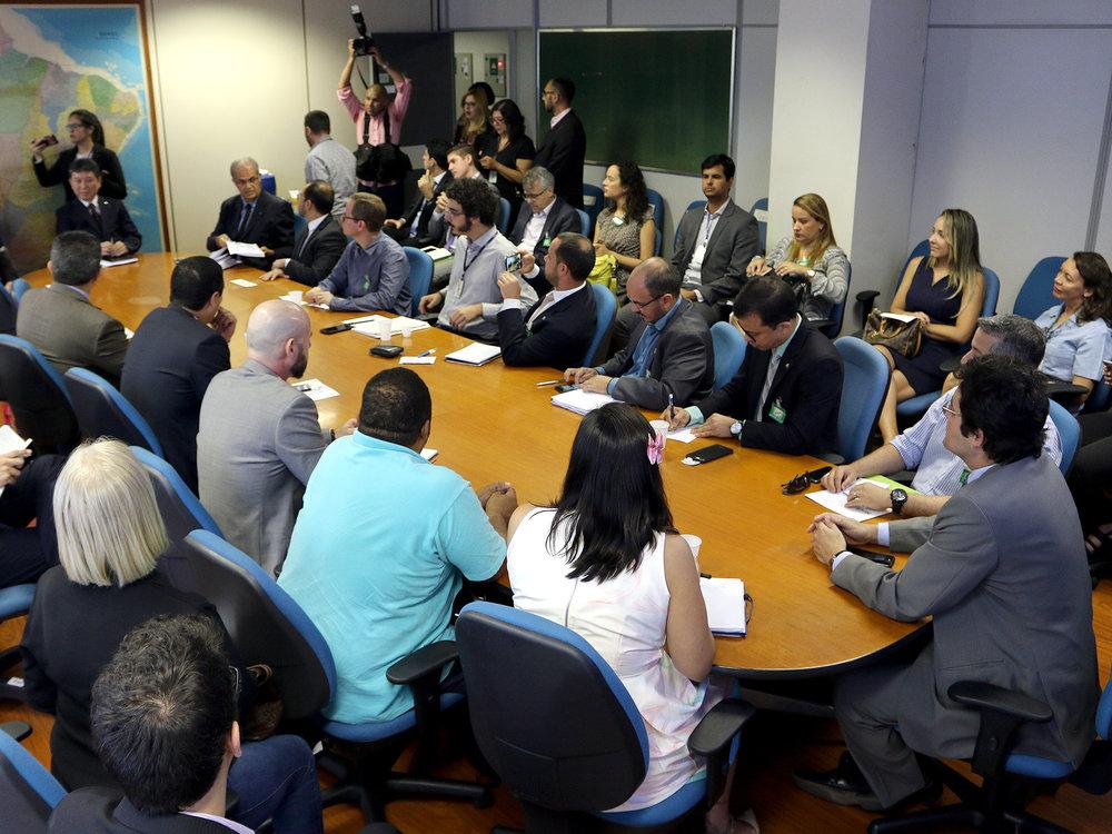 Reunião no gabinete do Secretário de Gestão de Pessoas