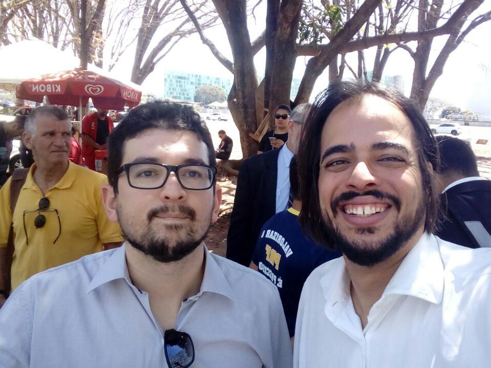Associados da ANESP Ademir Picanço e José Guerra durante o ato.