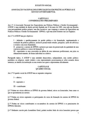 Estatuto ANESP