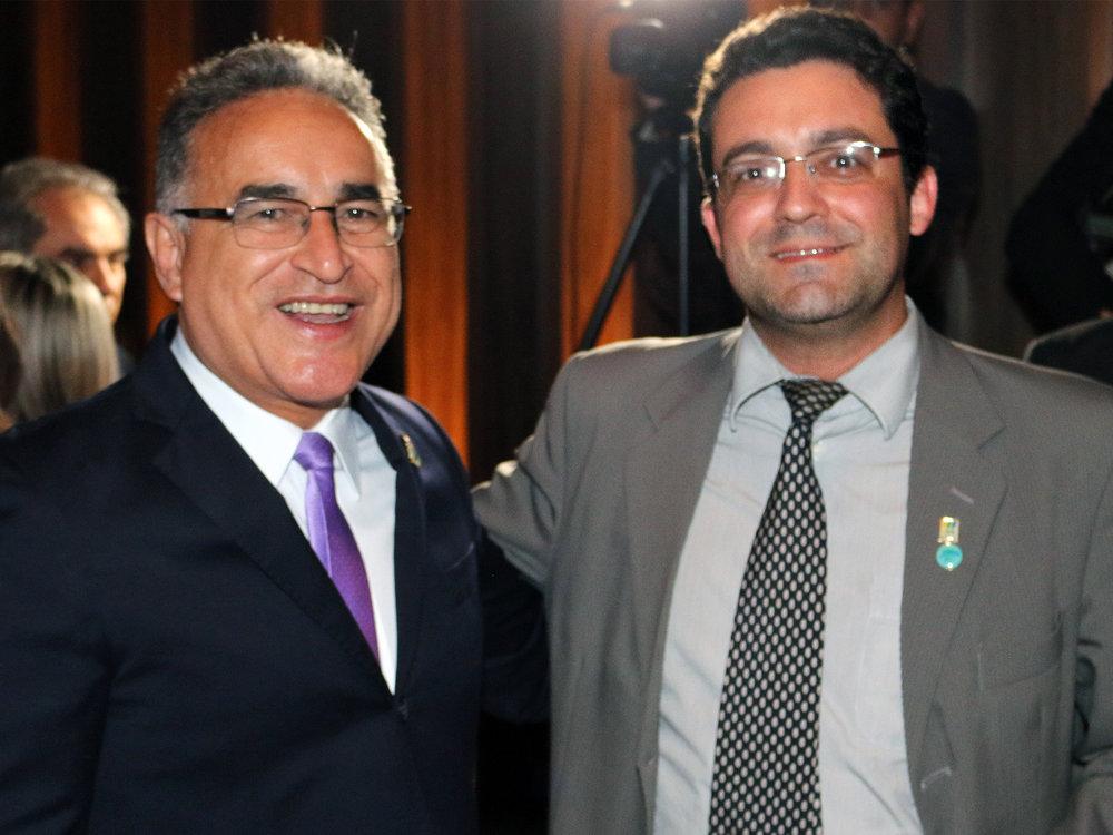 Deputado Edmilson Rodrigues e Alex Canuto.
