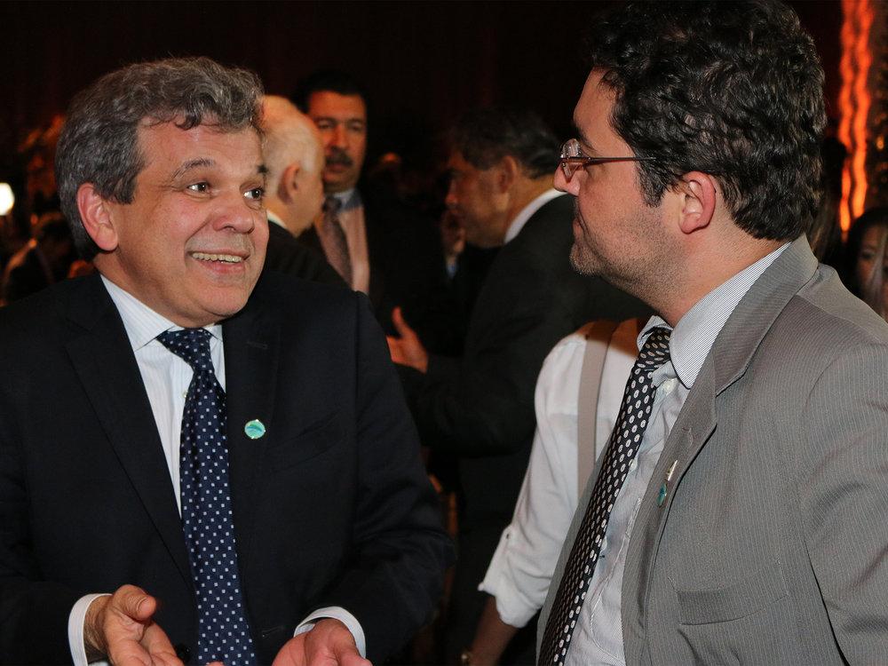 Floriano Martins de Sá Neto, Presidente da ANFIP, em conversa com o Presidente da ANESP.