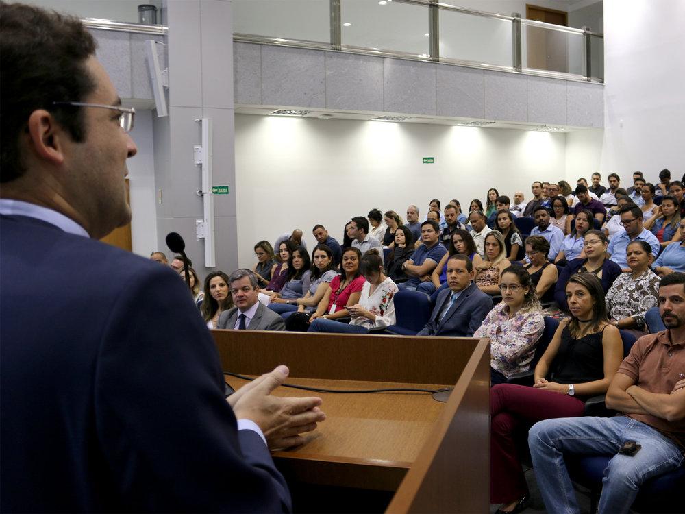 Presidente da ANESP, Alex Canuto, saudou os presentes. Fotos: Filipe Calmon / ANESP