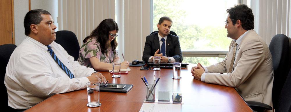 Os EPPGGs Tito Fróes, Aline Soares, Gleisson Rubin e Alex Canuto. Foto: Filipe Calmon / ANESP