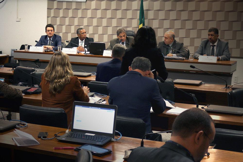 residente Alex Canuto durante Audiência Pública no Senado sobre a MP 805. Foto: Filipe Calmon / ANESP
