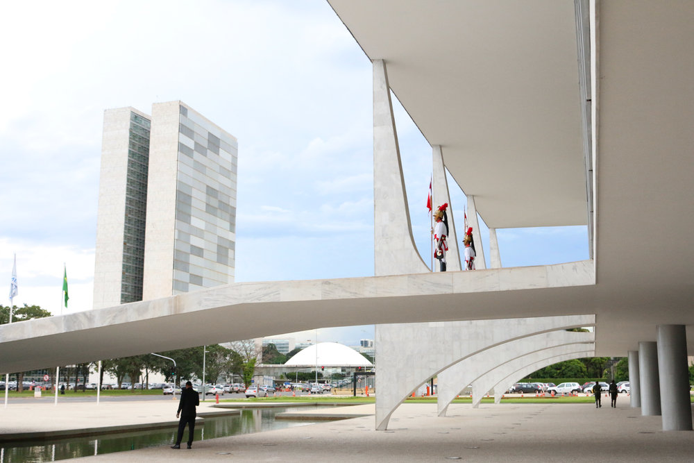 O Congresso Nacional visto do Palácio do Planalto. Foto: Filipe Calmon / ANESP