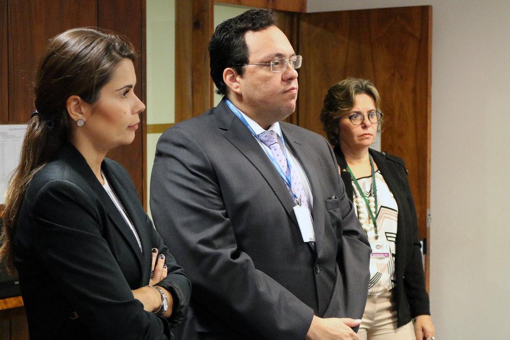 Karine Lesch e João Paulo Madruga, assessore dos Senadores Valdir Raupp e Garibaldi Alves, respectivamente.