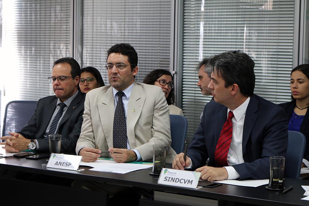 Presidente da ANESP defende pleito dos EPPGGs durante reunião do Fórum. Foto: Filipe Calmon / ANESP