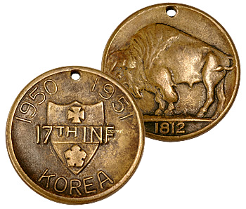 The 17th Infantry Coin of Korea; one of the oldest challenge coins known.