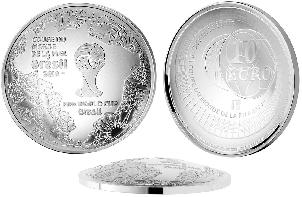 FIFA 2014 World Cup Monnaie de Paris 10 Euro Silver Proof