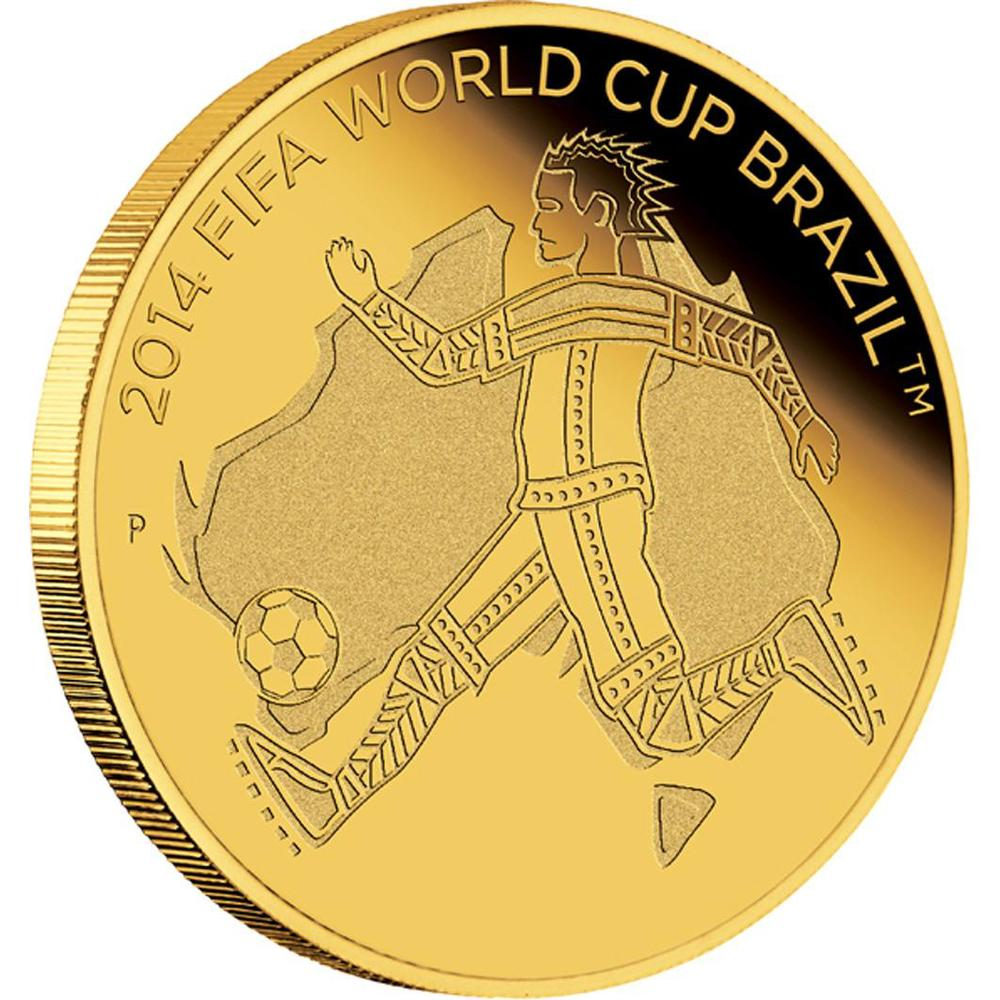 FIFA 2014 World Cup Perth Mint 1/4 oz Gold Proof