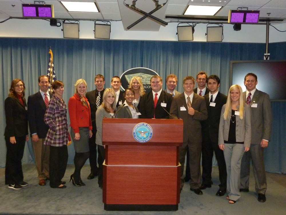 Comm Dept - PRSSA in DC - Pentagon DOD Briefing Room - Oct 2010.jpg