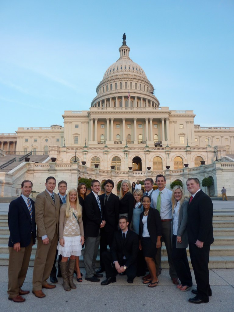 Comm Dept - PRSSA in DC - US Capitol - Oct 2010.jpg