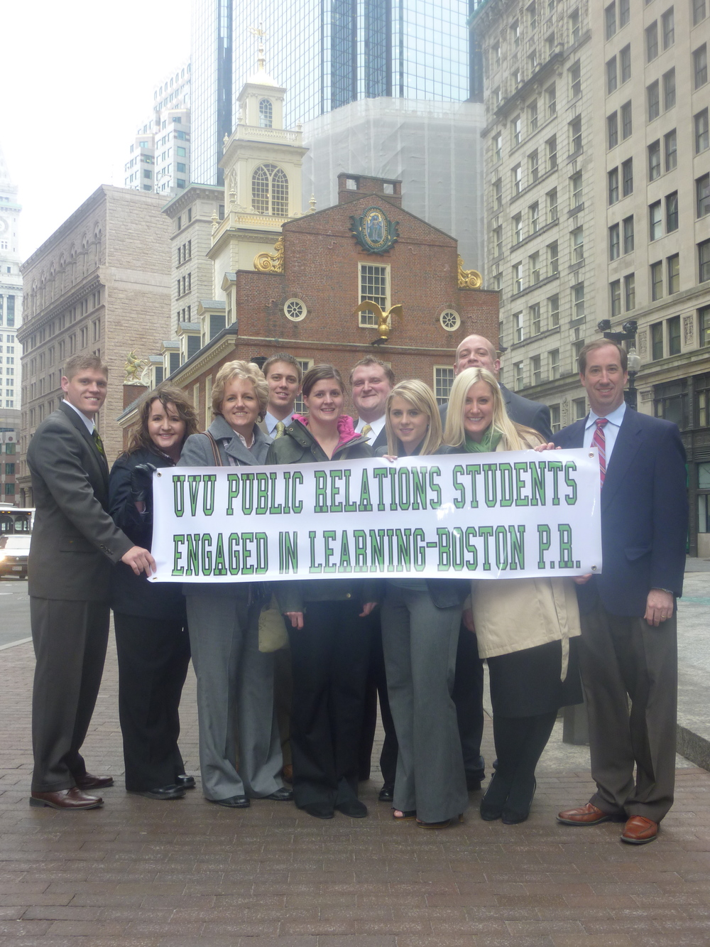 PR students in Boston - downtown Boston with sign.jpg
