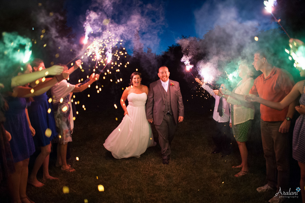Wedding Sparkler Exit - Aralani Photography - Ara Roselani