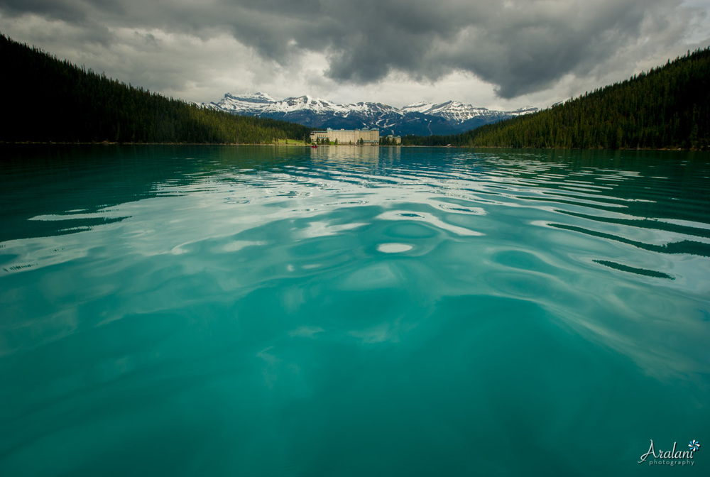 Lake Louise from a canoe - Banff National Park, Canada