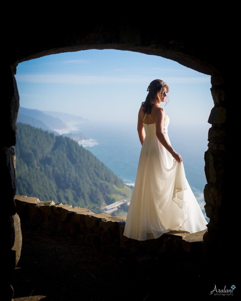 Yachats Cape Perpetua Stone Shelter Wedding