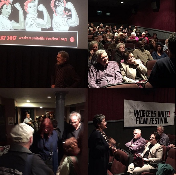 Great crowds to see EUGene V. Debs biopic - Hendrik Hertzberg from the New Yorker graciously answered questions with Director Yale Strom.  Ludlow: Greek Americans in the Colorado Coal War sold out! Thanks to Producer Frosso Tsouka for an incredible film!  Instagram: @workersunitefilmfest