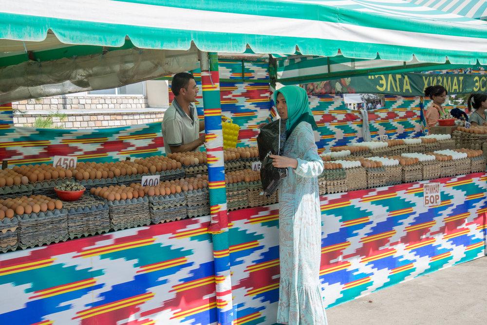 Egg Seller, Choksu Market, Tashkent