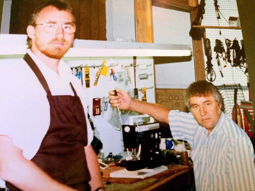 1986 - Bob Pottenger and son, Rob. Family-owned for three generations.