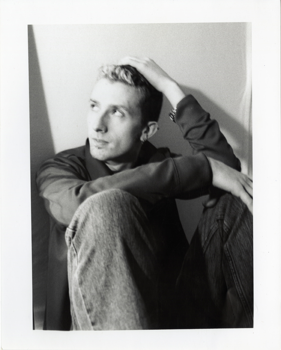 "Artifact #2 - Portrait of the artist in Spring 2002, taken by boyfriend; 8"" x 10""  hand-developed."