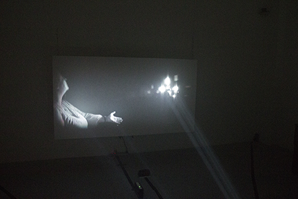Projection in main gallery space.