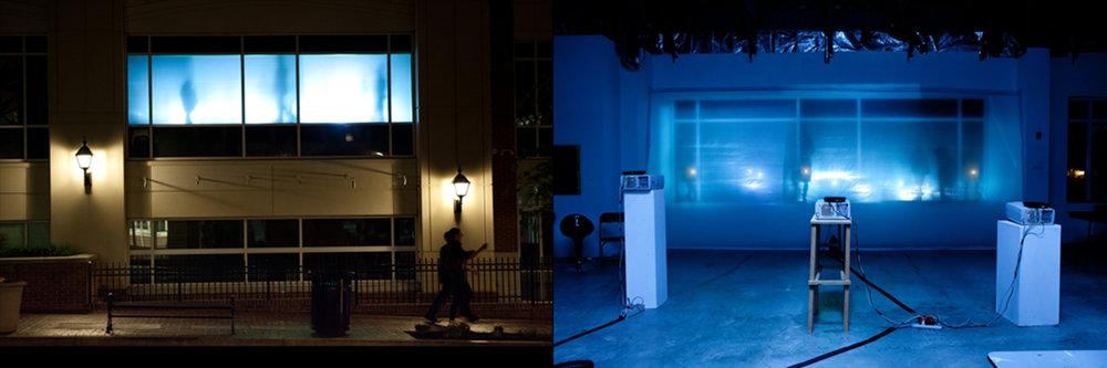 Project 2011.001r  Light and Video Installation Adam Lister Gallery - Fairfax, Virginia 2011