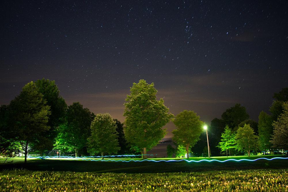 UpState/NonState Night Light Lines II  Performance Documentation 2015