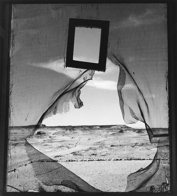 "Lee Miller (1907-1977),  Siwa Egypt , 1937 Gelatin silver print, 14 9/16 x 10 5/16""; Lee Miller Archive  ""Lee Miller (1907-1977) was an American surrealist photographer who started as a model, and was often photographed by Man Ray. She went on to become a noted photographer in her own right, and was possibly the only woman combat photographer during World War II. She photographed active combat throughout Europe, and was present with her camera when American GIs entered Dachau for the first time, giving the world its first look at the horror inside the concentration camps. She may be best known for the photos taken of her in Hitler's bathtub while GIs occupied his house after the liberation of the camps. After the war, she suffered from what is today known as PTSD and the bulk of her photos were discovered by her family only after her death.   In between her discovery of surrealist art and becoming a war correspondent, Lee Miller moved to Egypt and took some of her most enduring photos there. Dr. Peter Schulman will talk about this visionary period in Lee Miller's life, the images themselves, and Lee Miller's contributions to surrealism."" (via  The Seligmann Center )"