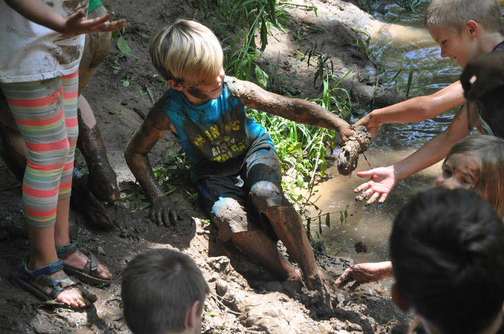 But then Prof. Spinifera took the campers down to the stream where we found the mother load of mud.