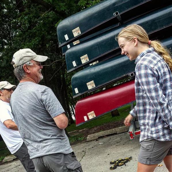 Andrea and Don at a Monday Night Canoe Convoy