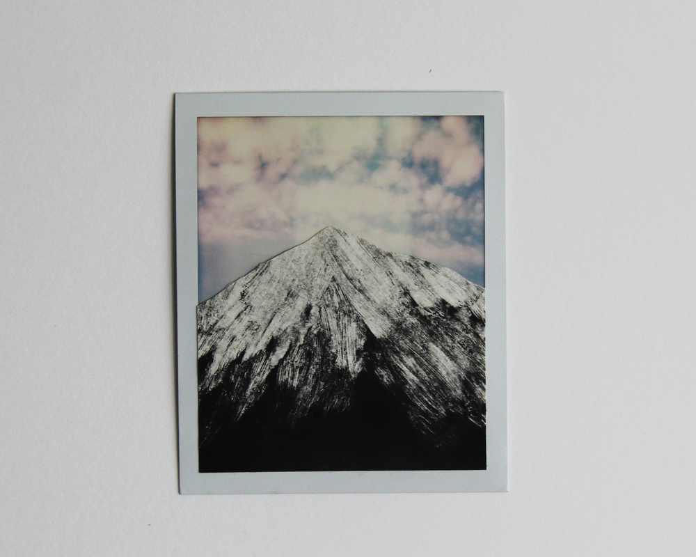 Mineral Peak, CA  Monotype/Polaroid Instant Print  3    1/2 x 4 1/4 2015