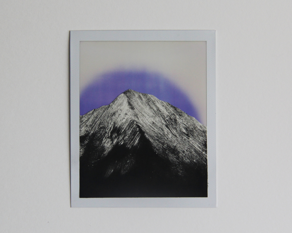 Rainbow Mountain, CA  Monotype/Polaroid Instant Print  3    1/2 x 4 1/4 2015