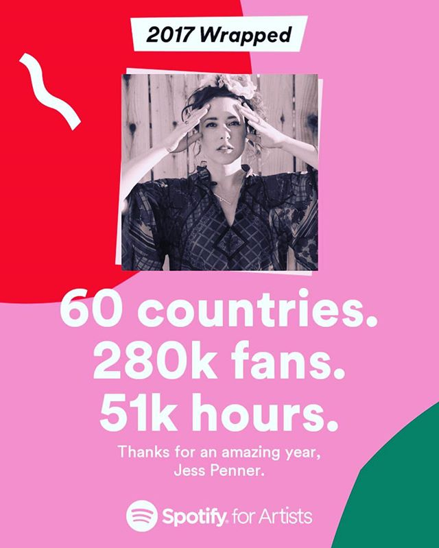 Thank you @spotify for this awesome little gift. It's amazing to know that so many people are listening 💕💕💕 I'm grateful to be able to do what I love 🙌🏻😭🌈🎶