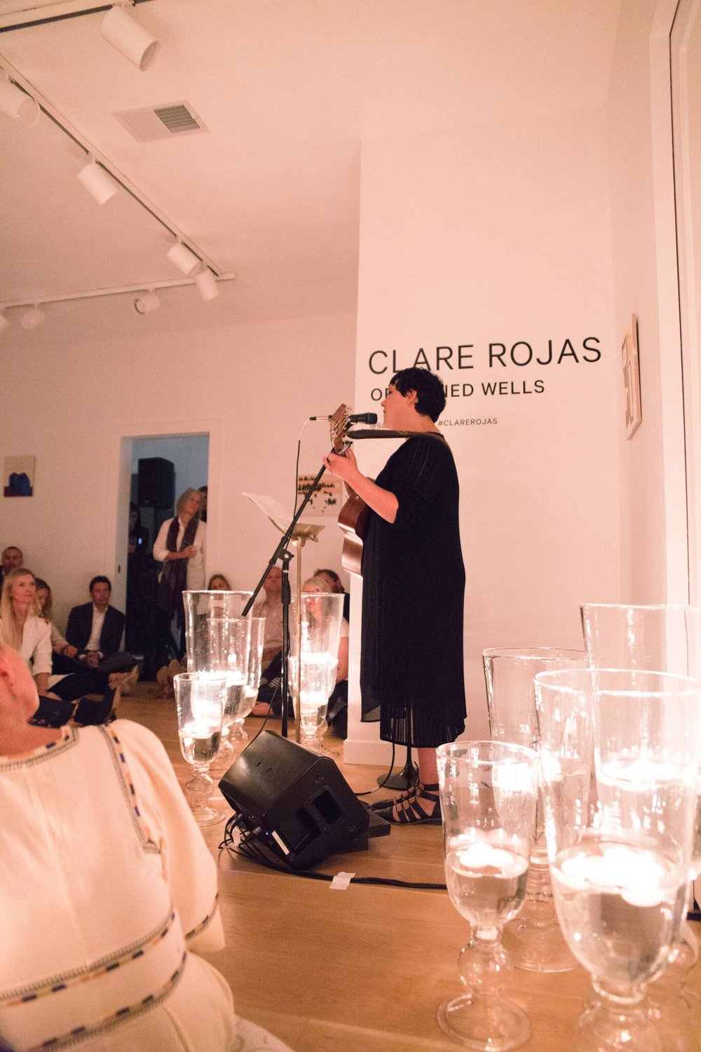 Peggy Honeywell plays an intimate set for an enamored audience at Soco Gallery.  Photo courtesy of Ariana Clare (www.arianaclare.com)