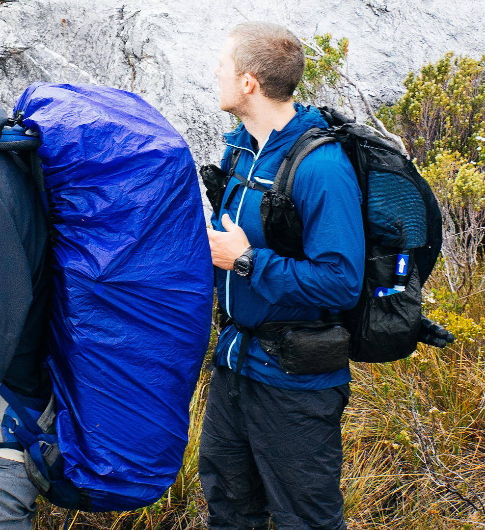 Zpacks Arc Blast next to a more traditional pack, designed for higher loads