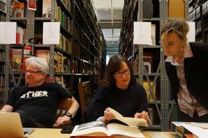 Rick, Megan & library patron
