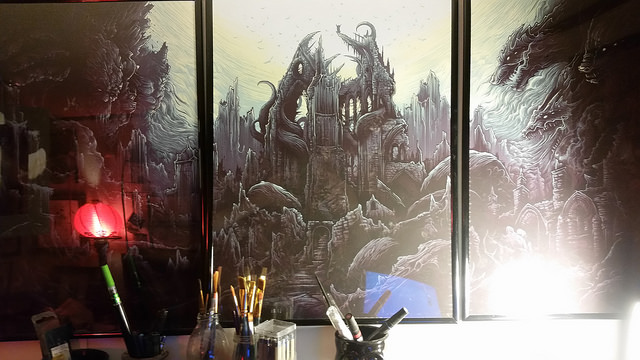 Triptych Art Print Series by Dan Mumford