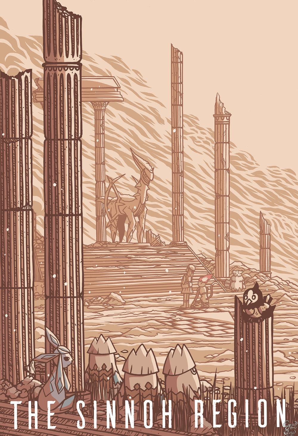 The Sinnoh Region - Pokemon Travel Poster.jpg