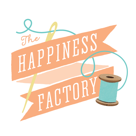 the happiness factory logo by miss pickles press | misspicklespress.com