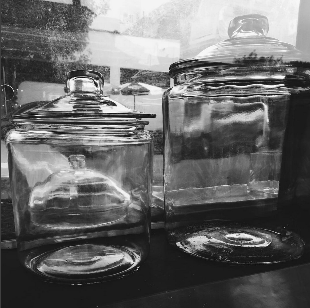 Our empty jars midday Sunday! :-)