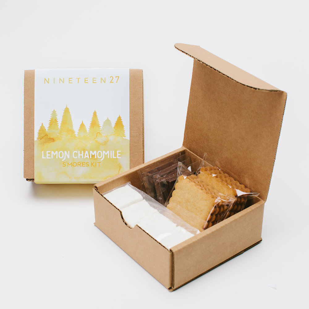 LEMON CHAMOMILE  - honey grahamslemon chamomile mallows bittersweet chocolate squares$11.50