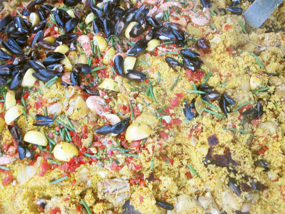 gerard's paella at the occidental farmers market