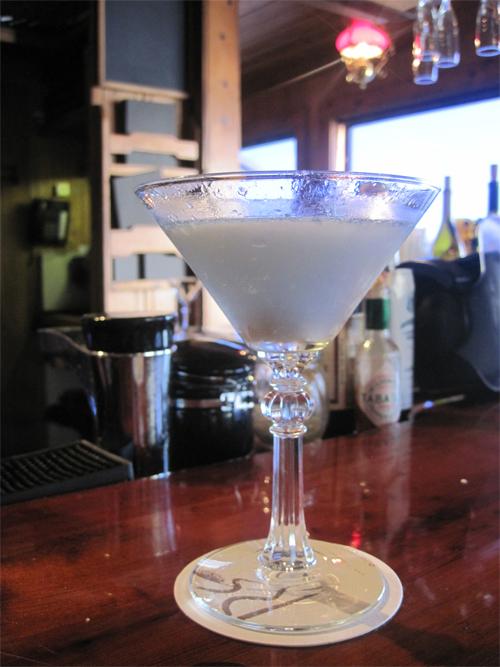 elderflower cocktail at river's end, jenner